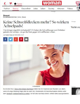 Achselpads von softwings in woman