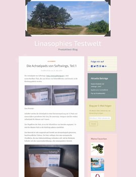 Linasophies Testwelt testet Achselpads